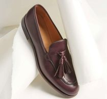 MaxMara Moccasin Casual Style Plain Leather Office Style