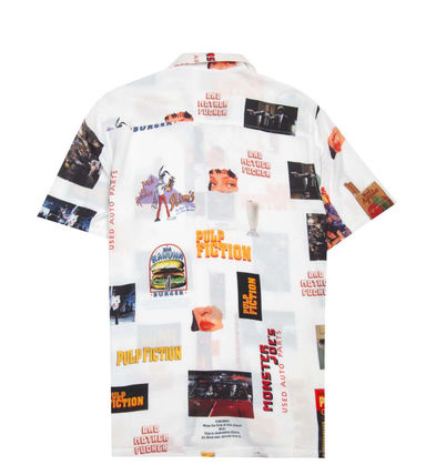 Button-down Street Style Collaboration Short Sleeves Shirts