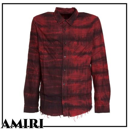 AMIRI Shirts Button-down Stripes Long Sleeves Cotton Shirts