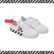 Off-White Stripes Unisex Street Style Sneakers