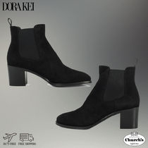 Church's Suede Plain Chelsea Boots Party Style Elegant Style