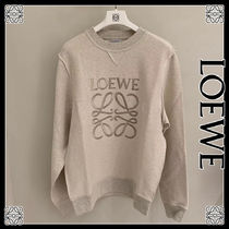 LOEWE Crew Neck U-Neck Long Sleeves Cotton Sweatshirts