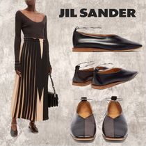 Jil Sander Casual Style Plain Leather Flats