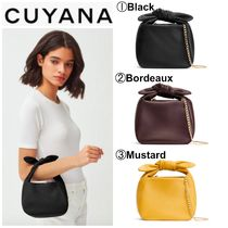 CUYANA Casual Style 2WAY Plain Leather Party Style Purses