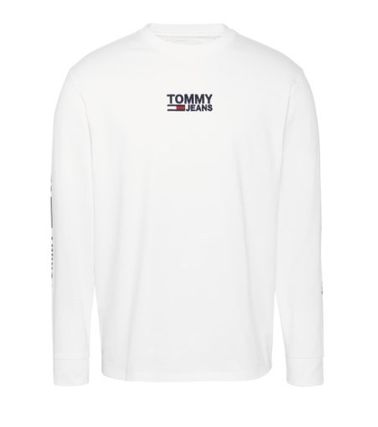 Tommy Hilfiger Long Sleeve Pullovers Street Style Long Sleeves Plain 5