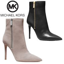 Michael Kors Suede Plain Leather Pin Heels Party Style Elegant Style
