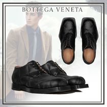 BOTTEGA VENETA Plain Toe Plain Leather Oxfords
