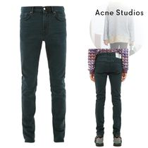 Acne Blended Fabrics Plain Cotton Jeans & Denim