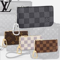 Louis Vuitton Unisex Canvas Street Style Leather Coin Cases