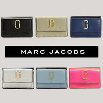MARC JACOBS Snapshot Unisex Plain Leather Folding Wallets