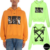 Off-White Pullovers Unisex Sweat Street Style Long Sleeves Oversized