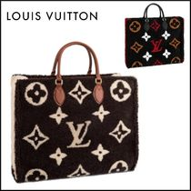 Louis Vuitton Monogram Casual Style Office Style Elegant Style Shearling