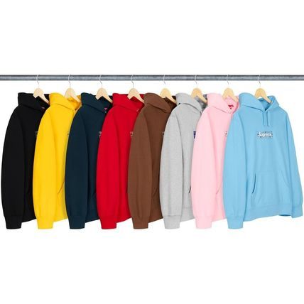 Supreme Hoodies Pullovers Unisex Street Style Long Sleeves Plain Cotton 3