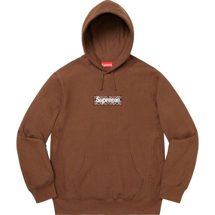 Supreme Hoodies Pullovers Unisex Street Style Long Sleeves Plain Cotton 9