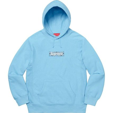Supreme Hoodies Pullovers Unisex Street Style Long Sleeves Plain Cotton 14