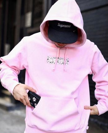 Supreme Hoodies Pullovers Unisex Street Style Long Sleeves Plain Cotton 18