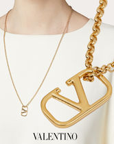 VALENTINO VLOGO Costume Jewelry Casual Style Party Style 18K Gold