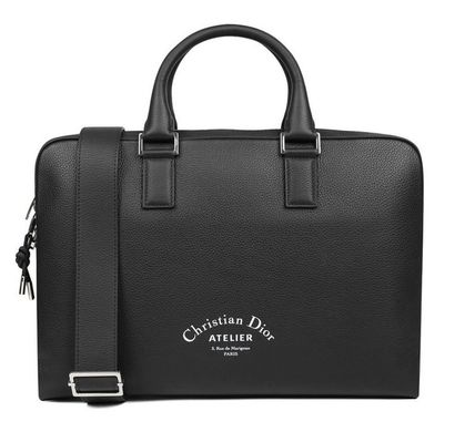 Christian Dior Plain Leather Logo Business & Briefcases