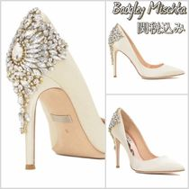 Badgley Mischka Pin Heels Party Style With Jewels Shoes