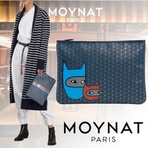 MOYNAT Monogram Casual Style Clutches
