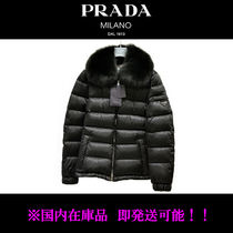 PRADA Fur Plain Down Jackets