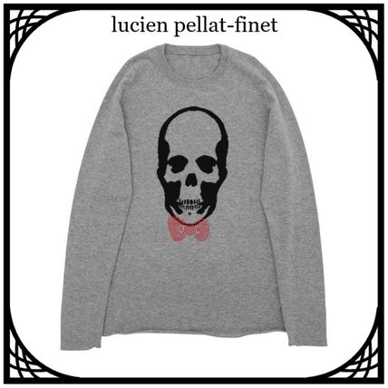 Skull Cashmere Collaboration Long Sleeves Sweaters