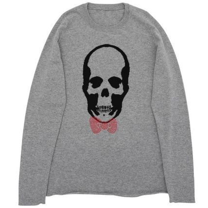 Skull Cashmere Collaboration Long Sleeves Luxury Sweaters