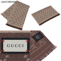 GUCCI Knit & Fur Scarves
