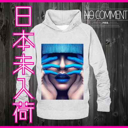 NO COMMENT PARIS Hoodies Pullovers Unisex Street Style Long Sleeves Cotton Logo