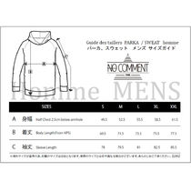 NO COMMENT PARIS Hoodies Pullovers Unisex Street Style Long Sleeves Cotton Logo 4