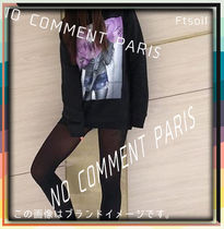 NO COMMENT PARIS Hoodies Pullovers Unisex Street Style Long Sleeves Cotton Logo 8