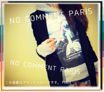 NO COMMENT PARIS Hoodies Pullovers Unisex Street Style Long Sleeves Cotton Logo 9