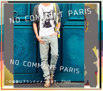 NO COMMENT PARIS Hoodies Pullovers Unisex Street Style Long Sleeves Cotton Logo 10