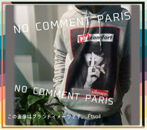 NO COMMENT PARIS Hoodies Pullovers Unisex Street Style Long Sleeves Cotton Logo 13