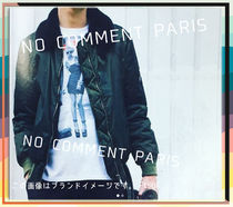 NO COMMENT PARIS Hoodies Pullovers Unisex Street Style Long Sleeves Cotton Logo 14