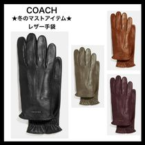 Coach Street Style Plain Gloves Gloves