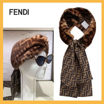 FENDI Unisex Silk Blended Fabrics Tassel Party Style Fringes