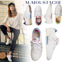 M. MOUSTACHE Casual Style Street Style Plain Leather Office Style