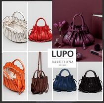 Lupo Barcelona Casual Style Tassel 2WAY Plain Leather Party Style