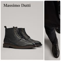 Massimo Dutti Wing Tip Leather Boots