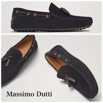 Massimo Dutti Plain Toe Moccasin Loafers Leather Loafers & Slip-ons