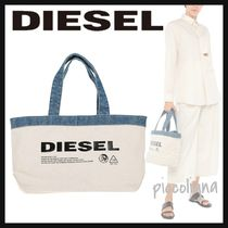DIESEL Casual Style Unisex Canvas A4 Totes