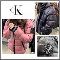 Calvin Klein Plain Medium Down Jackets
