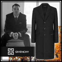 GIVENCHY Wool Cashmere Plain Chester Coats