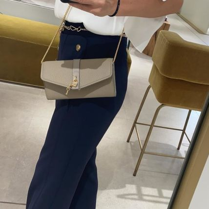 Chloe ABY Casual Style Calfskin Plain Leather Elegant Style