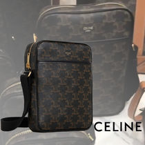 CELINE Street Style 2WAY Leather Crossbody Bag Small Shoulder Bag