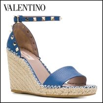 VALENTINO Casual Style Plain Leather Office Style