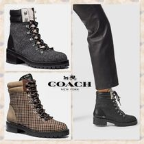 Coach Casual Style Tweed Elegant Style Ankle & Booties Boots