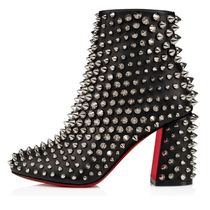 Christian Louboutin Casual Style Studded Leather Block Heels Party Style
