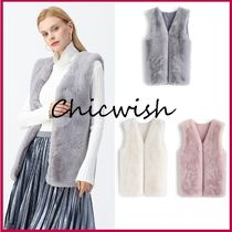 Chicwish Chicwish Mid-Length Faux Fur Vest